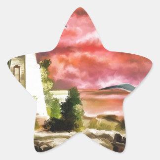 lighthouse-816 star sticker