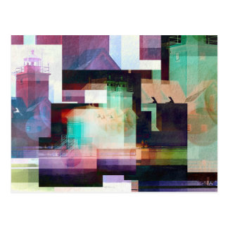 Lighthouse Abstract Postcard