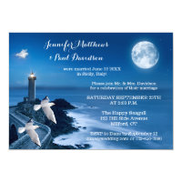 Lighthouse After Wedding Photo Invitation