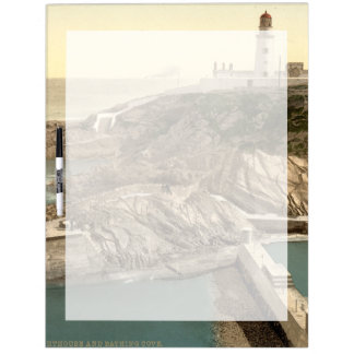 Lighthouse and Bathing Cove, Douglas, Isle of Man Dry-Erase Board