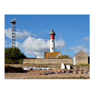 Lighthouse and beach of Ouistreham in France Postcard