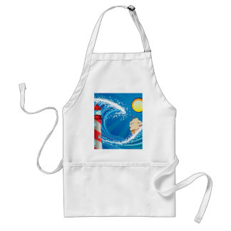 Lighthouse and Boat in the Sea 2 Adult Apron