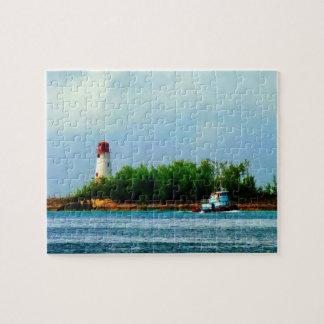 Lighthouse and Boat Nassau Bahamas Jigsaw Puzzle