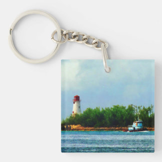 Lighthouse and Boat Nassau Bahamas Key Chains