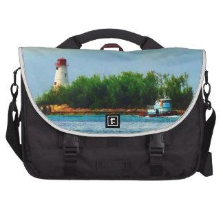 Lighthouse and Boat Nassau Bahamas Commuter Bag