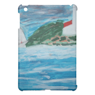Lighthouse and Boat on the Stormy Seas iPad Case