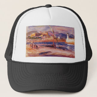 Lighthouse and Fort Carre Antibes by Pierre-August Trucker Hat