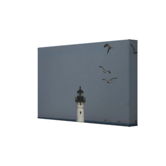 Lighthouse and Gulls canvas print