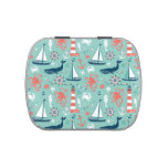 Lighthouse and Sailboats Nautical Theme Jelly Belly Tins