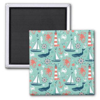 Lighthouse and Sailboats Nautical Theme Magnets