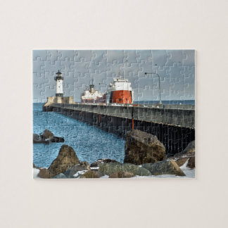 Lighthouse and Ship Jigsaw Puzzle