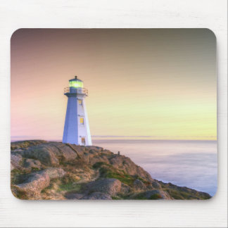 Lighthouse and Sunset Photo Mouse Pad