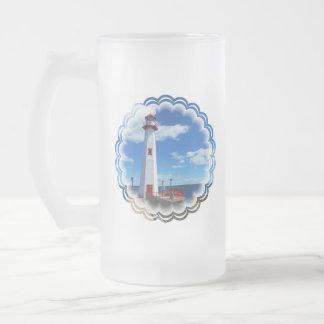 Lighthouse Art Frosted Beer Mug