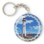 Lighthouse Art Keychain