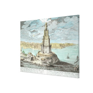 Lighthouse at Alexandria, built by Ptolemy the Gre Stretched Canvas Print