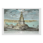 Lighthouse at Alexandria, built by Ptolemy the Gre Poster