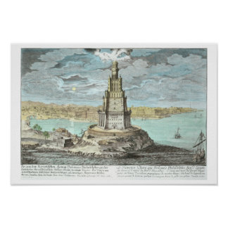 Lighthouse at Alexandria, built by Ptolemy the Gre Print