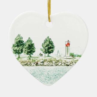 Lighthouse At Andrew Haydon Park Ceramic Ornament