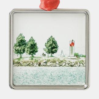 Lighthouse At Andrew Haydon Park Metal Ornament