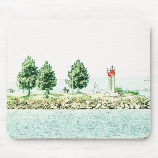Lighthouse At Andrew Haydon Park Mouse Pad