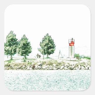 Lighthouse At Andrew Haydon Park Square Sticker