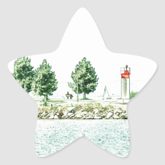 Lighthouse At Andrew Haydon Park Star Sticker