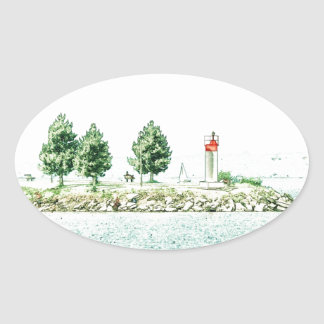 Lighthouse At Andrew Haydon Park Stickers