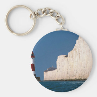Lighthouse at Beachy Head, Eastbourne, East Sussex Key Chain