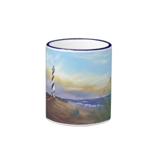 Lighthouse at Cape May Ringer Coffee Mug