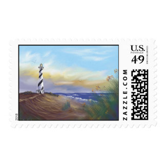 Lighthouse at Cape May Postage Stamp