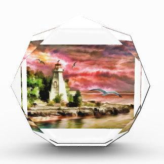 Lighthouse At Dusk Acrylic Award
