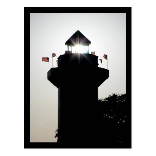 Lighthouse at Harbor Town Marina Postcard