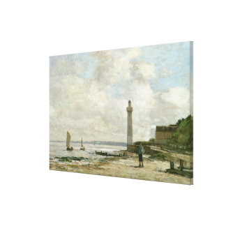 Lighthouse at Honfleur, 1864-66 (oil on panel) Stretched Canvas Prints