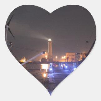 Lighthouse at Licata. Heart Sticker