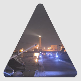 Lighthouse at Licata. Triangle Sticker