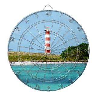 Lighthouse at Los Roques - Venezuela Dartboard