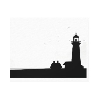 LIGHTHOUSE AT MORNING CANVAS PRINT