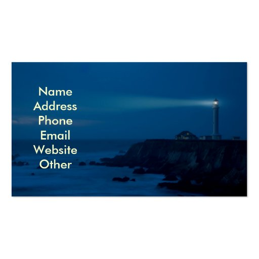 Lighthouse at Night Business Cards