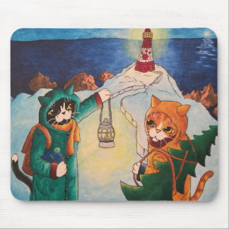 Lighthouse at Night Mouse Pad