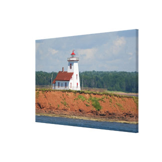 Lighthouse at North Umberland on Prince Edward Canvas Print