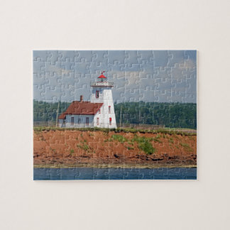 Lighthouse at North Umberland on Prince Edward Jigsaw Puzzle