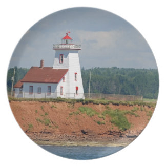 Lighthouse at North Umberland on Prince Edward Party Plate