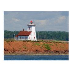 Lighthouse At North Umberland On Prince Edward Postcard at Zazzle