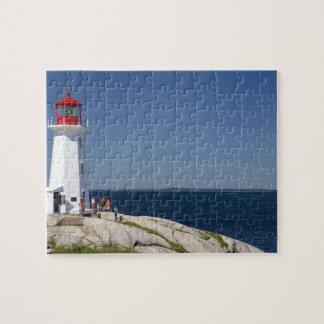 Lighthouse at Peggy's Cove, Nova Scotia, Canada. Jigsaw Puzzle