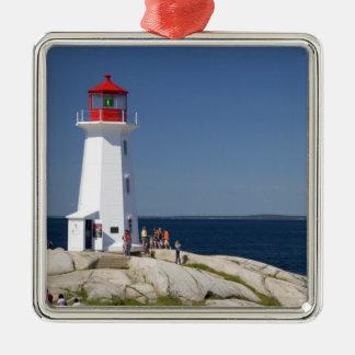 Lighthouse at Peggy's Cove, Nova Scotia, Canada. Metal Ornament
