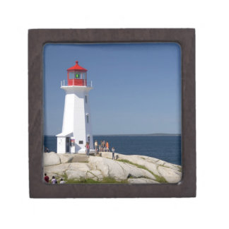 Lighthouse at Peggy's Cove, Nova Scotia, Canada. Premium Keepsake Box