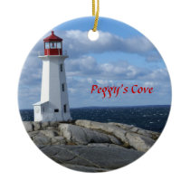 Lighthouse at Peggy's Cove,Nova Scotia Ceramic Ornament