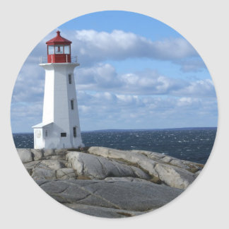 Lighthouse at Peggy's Cove Round Sticker