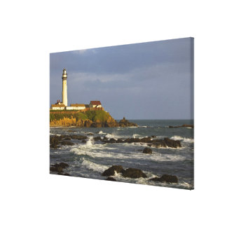 Lighthouse at Pigeon Point State Beach in San 2 Canvas Print