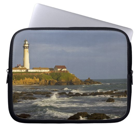 Lighthouse at Pigeon Point State Beach in San 2 Computer Sleeve